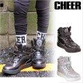 【キッズダンスウェアー】CHEER モノトーンホログラムエナメルハイカットシューズ(CS639001)【チアー エナメル シューズ cheer 靴】