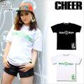 【キッズダンス衣装】CHEER EX リサイクルマーク風ビッグ半袖Tシャツ(CX713228)【チアー | cheer | ダンス衣装 | キッズダンス衣装 | Tシャツ | トップス | リサイクルマーク | 黒 | 白 | ブラック | ホワイト | hiphop | dance | ヒップホップ kids | CHEER】