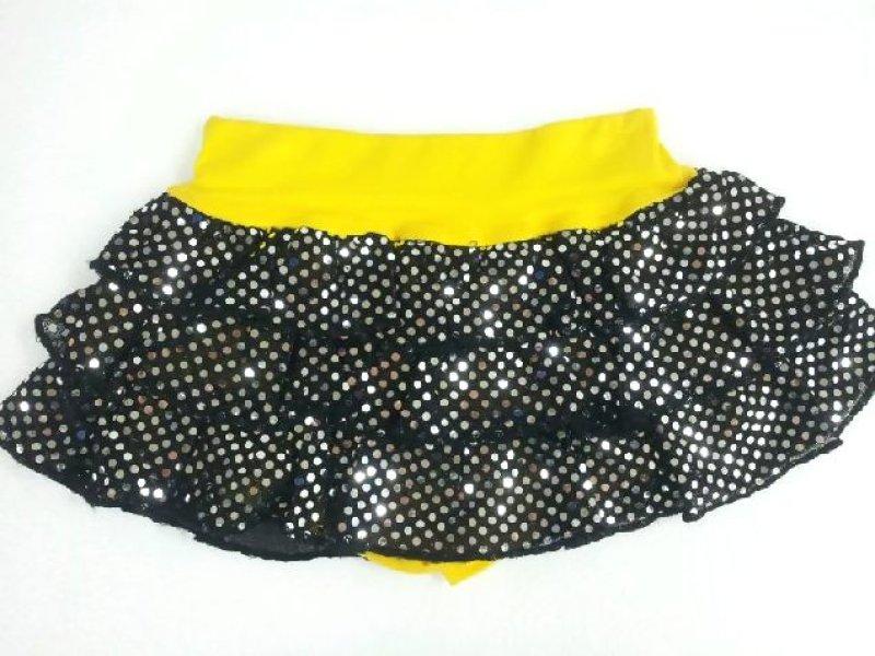 画像4: 【ダンス衣装】【50%off☆在庫限りで終了】BANKKIDS DANCEスパンコール風パンツ付きらきら3段フリルスカート
