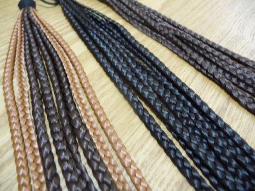他の写真1: 【ダンス衣装】ヘアエクステ|ウィッグ 三つ編み束ゴム【約25cm】