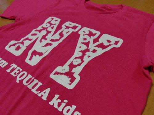 他の写真1: 【韓国子供服】TEQUILA KIDS ★カラバリ★豹柄NYプリント超BIGダンス半袖Tシャツ