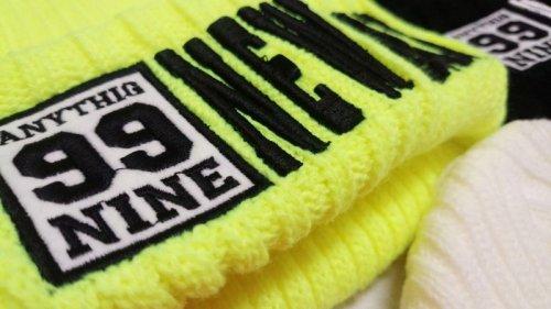 他の写真3: 【韓国子供服】カラーニット帽hiphopダンス衣装に!!【蛍光NEWYORK刺繍/ニット帽/キャップ/】