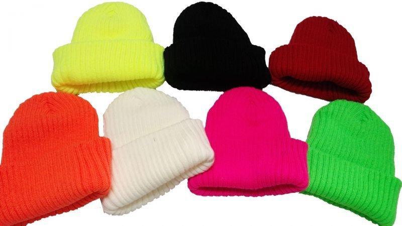 画像2: 【韓国子供服】カラーニット帽hiphopダンス衣装に!!【蛍光NEWYORK刺繍/ニット帽/キャップ/】