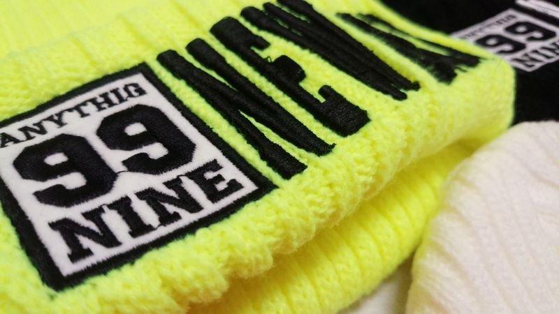 画像5: 【韓国子供服】カラーニット帽hiphopダンス衣装に!!【蛍光NEWYORK刺繍/ニット帽/キャップ/】