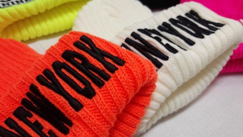 画像4: 【韓国子供服】カラーニット帽hiphopダンス衣装に!!【蛍光NEWYORK刺繍/ニット帽/キャップ/】