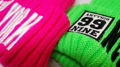 他の写真2: 【韓国子供服】カラーニット帽hiphopダンス衣装に!!【蛍光NEWYORK刺繍/ニット帽/キャップ/】