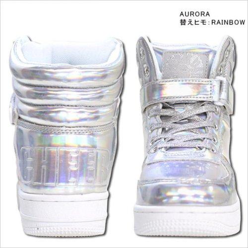 他の写真2: 【キッズダンスウェアー】CHEER ホログラムエナメルハイカットシューズ(CS629001)【チアー エナメル シューズ cheer 靴】