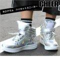 【キッズダンスウェアー】CHEER ホログラムエナメルハイカットシューズ(CS629001)【チアー エナメル シューズ cheer 靴】
