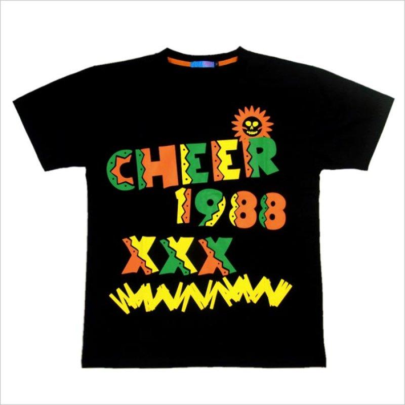 画像4: 【キッズダンス衣装】★SALE50%OFF★CHEER EX メキシカンカラービッグ半袖Tシャツ(CX713330)【チアー | cheer | ダンス衣装 | キッズダンス衣装 | Tシャツ | トップス | カラフルロゴ | 黒 | 白 | ブラック | ホワイト | hiphop | dance | ヒップホップ kids | CHEER】
