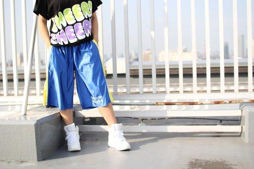 他の写真3: 【キッズダンスウェアー】★SALE50%OFF★CHEER EX バイカラーバスケットパンツ(CX810132)【CHEER チアー キッズダンス衣装 バスケットパンツ hiphop衣装 ヒップホップダンス キッズ】