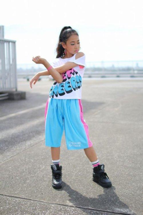 他の写真2: 【キッズダンスウェアー】CHEER EX バイカラーバスケットパンツ(CX810132)【CHEER チアー キッズダンス衣装 バスケットパンツ hiphop衣装 ヒップホップダンス キッズ】