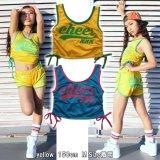 【キッズダンスウェアー】CHEER xxx サイドシャーリングメッシュタンクトップ(CX824520)【チアー トップス キッズダンス衣装 タンクトップ カラフル スポーティー ダンス衣装 キッズ】
