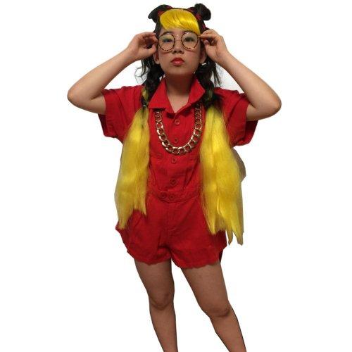 他の写真2: 【キッズダンス小物】エクステ|ウィッグ カラー選びで迷わないとにかく映える使える2トーンカラーグラデーション三つ編み毛束【全長約114cm】【ヒップホップダンス レゲエ 髪型 三つ編み ブレイズ 編み込み コーンロウ ヘアアレンジ 簡単 キッズダンス衣装 女の子】