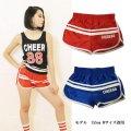 【キッズダンスウェアー】CHEER EX 88サテンショートパンツ(CX910121)【キッズ ダンス 衣装 cheer  88 ナンバリング ショートパンツ チアー ライン入り フィットネス キッズ ジュニア】