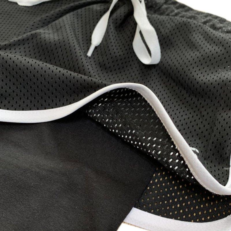 画像5: 【キッズダンスウェアー】【1点からお取り寄せ】CHEER EX レギンス付きパイピングメッシュショートパンツ(CX832620)【キッズダンス衣装 レギパン レギンス付きショートパンツ 黒 メッシュ チアー ダンスレッスン着 キッズ ジュニア フィットネス ダンスウェア レギンスパンツ】