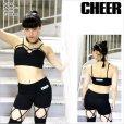 画像4: 【キッズダンスウェアー】CHEER xxx フロントクロスデザインビスチェ風ブラトップ(CJ722501)【チアー | cheer | ダンス衣装 | ブラトップ | ネオンカラー | ダンス レッスン着 | ダンス練習着 kids】